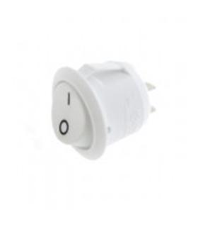 Interruptor Basculante Redondo Branco Teimoso - 914IBRWT