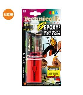 Cola Epóxi Secagem Rápida Transparente 24Ml - EPOXI24E