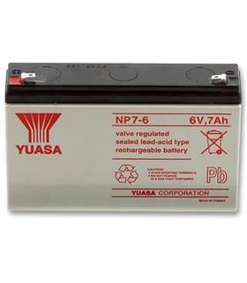 Bateria 6V 7A 151x97.5x34mm Yuasa - NP7-6