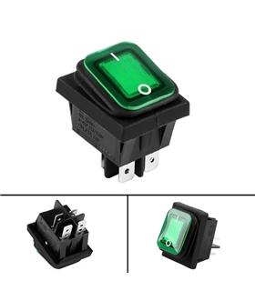 Interruptor Basculante 2 Posições Estáveis 230V IP65 Verde - MX0100180