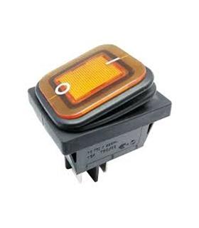 Interruptor Basculante 2 Posições Estáveis 230V IP65 Amarelo - MX0100181