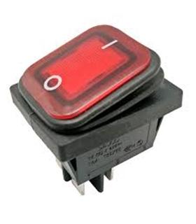 Interruptor Basculante 2 Posições Estáveis 230V IP65 Vermelo - MX0100182