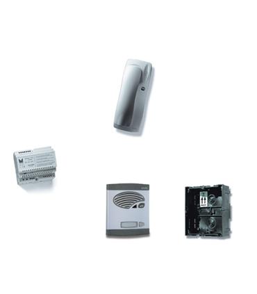 Kit de 1 pulsador simples, c/ sist. de chamada 4+N s/ trinco - KAS-41021