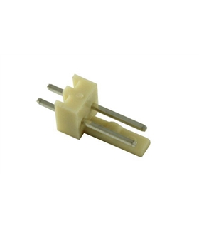 Ficha Pin Socket 2 Pinos Macho, 2.54mm - 69PS2M