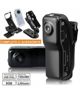 Mini camara vigilância c/ Áudio e cabo USB - MUFICSPY