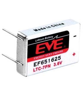 EF651625 - Battery, Lithium, 3.6V, Prismatic, 750mAh - EF651625