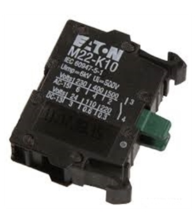 M22K10 - Bloco Contacto, 1NO, 6 A, 500 V, 1 Pole, M22 Series - M22K10