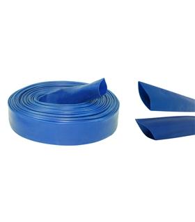 Manga Termoretrátil PVC Rigido Azul 1 Metro - HS170AZ