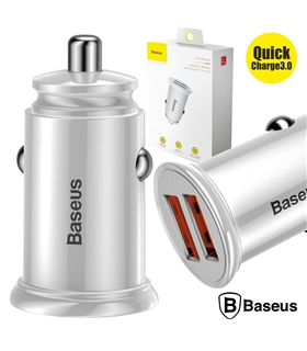Adaptador Isqueiro Quick Charge 3.0 2 US 12-2V Branco - CCALL-YD02