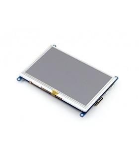 """Ecrã Tátil Resistivo 5"""" HDMI LCD 800x480 - LCD01038"""