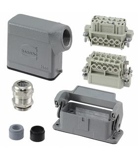 10200100000 - Conector HAN Macho + Fêmea 10 Pinos - 10200100000