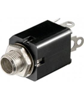 Ficha Jack Fêmea Painel 6.35mm Mono C/Interruptor - J6FMPI