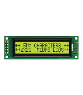 MC22005A6WR-SPTLY-V2 - Alphanumeric LCD, 20x2, Yell/ Gree - MC22005A6WR