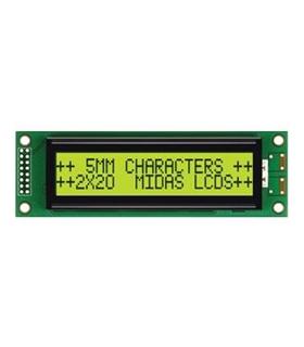 MC22005A6WR-SPTLY-V2 - Alphanumeric LCD, 20x2, Yell/ Gree - MC22005A6WR