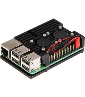 Caixa Para Raspberry Pi 4 em Aluminio c/ 2 Ventoinhas - MX0967582