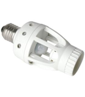 Casquilho E27 Para Lâmpada com Sensor PIR 360º - 010569HA