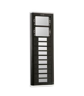 Placa de rua iBLACK com 12 pulsadores simples e 2 janelas - PPS-52212