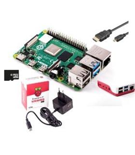 Kit Raspberry Pi 4 4Gb com 16Gb, Alimentador 3.0A - RASP4KIT4GB