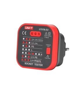 UT07B-EU - Testador de Tomadas 230VAC + Rcd - UT07B-EU