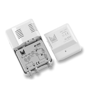 Amplificador de interior CATV 2 sal. 65 MHz - AI-233