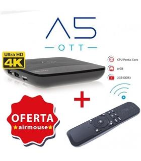 Amiko A5 OTT 4K, Android 7.1, 2Gb RAM DDR, 8Gb - AMIKOA5OTT