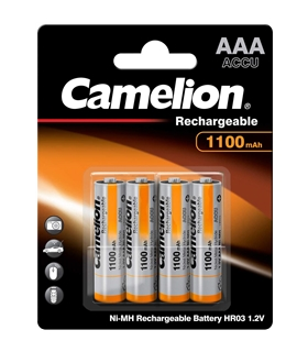 Pack 4 Pilhas Camelion LR3 AAA NiMh 1100Mah - NHAAA1100BP4