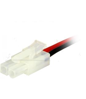 Ficha Molex 6.2mm 2 Pinos Com Fio - 69M2F