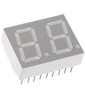 HDSP-521G - Display 7 Segmentos Verde Anodo Comum - HDSP521G