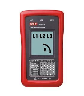 UT261A - Indicador Sequencia Fases e Rotação de Motores - UT261A