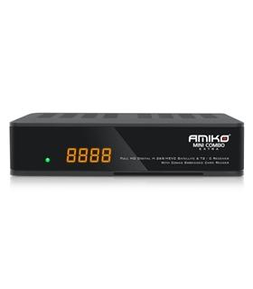 Amiko Mini Combo Extra - Recetor Satélite, TDT e Cabo - AMIKOMHDC