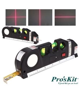 PD-161 - Fita Métrica 2.5M c/ Nível Bolha e Laser - PD-161