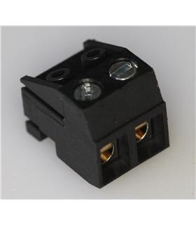 Ficha ED 2 Pólos s/ Pinos, 16 AWG, 5mm - CHF5/2BK
