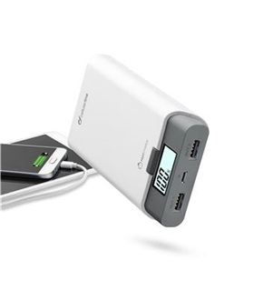 Power Bank 10000mA Branco com Display - FREEP10000W