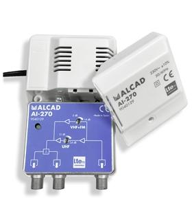 1 entrada, 2 saidas, G= UHF 24 dB, G= VHF/S 14 dB, LTE 700 - AI-270
