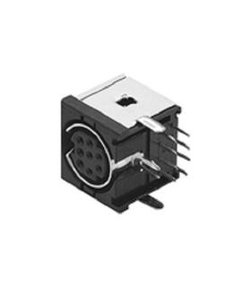 Ficha Mini Din 8 Pinos Femea Para Circuito Impresso - 69MD8PFCI