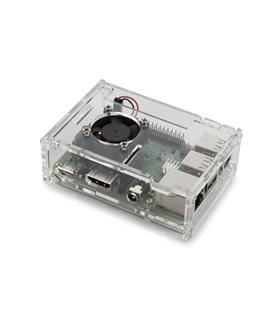 MXRA072-Caixa em acrilico com ventoinha para Raspberry Pi 4 - MXRA072
