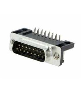 Conector Sub-D, Macho, 15 Pinos, PCB 90º - 69D15PMAR