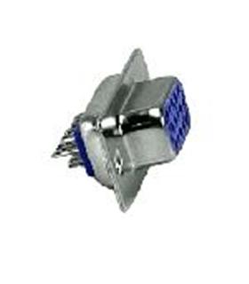 Conector Sub-DHD, Femea, 15 Pinos, Soldar - 69DHD15PF