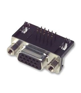 Conector Sub-DHD, Femea, 15 Pinos, PCB 90º - 69DHD15PFCI
