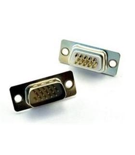 Conector Sub-DHD, Femea, 15 Pinos Dourados, Soldar - 69DHD15PMD