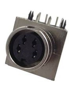 Conector DIN, Femea, 4 Pinos, PCB - 69DIN4PFCI