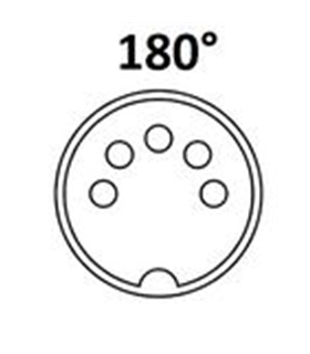 Conector DIN, Femea, 5 Pinos 180°, PCB - 69DIN5PFC.I