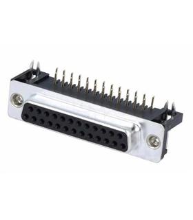 Conector Sub-D, Femea, 25 Pinos, PCB 90º - 69D25PFAR