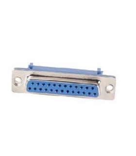 Conector Sub-D, Femea, 25 Pinos, PCB 180º - 69D25PFCI