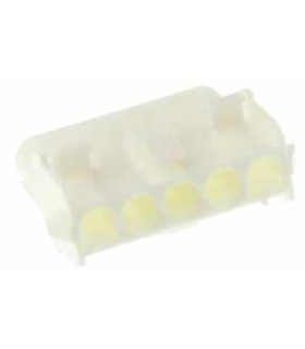 350810-1 - Conector Raster, Femea,  5 pinos, 6.35mm - 350810-1