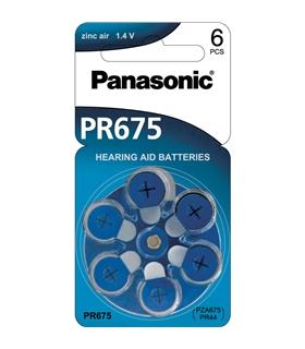 PR44/PR675 - Pilha Aparelho Auditivo Zinc Air Panasonic - 169PR44P