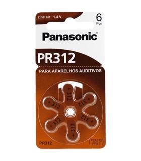 PR41/PR312 - Pilha Aparelho Auditivo Zinc Air Blister 6 - 169PR41