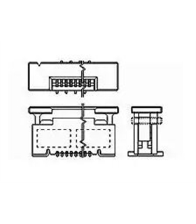 2-1734742-4 - Conector FFC/FPC, 0.5mm, 24 Pinos - 2-1734742-4