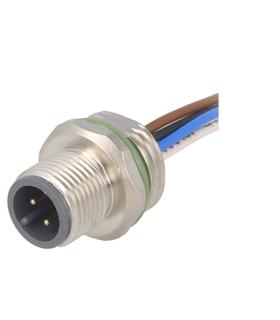 SAL-12-FS4-0.5 - Conector M12, Macho, 4 Pinos, Cabo 50cm - SAL12FS405