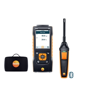 Kit Básico testo 440 - C/ sonda de humidade/temp e bluetooth - T05634404